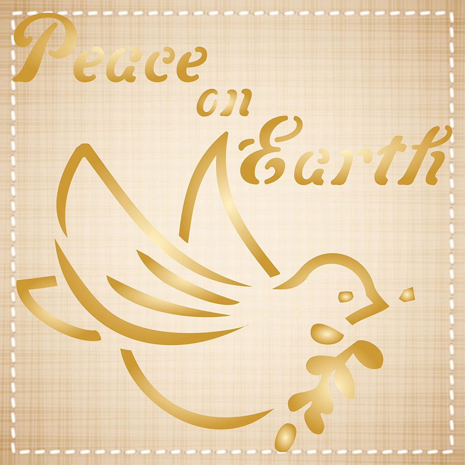 Amazon.com: Peace on Earth Stencil - (size 3.25\
