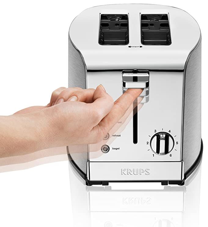 Amazon.com: KRUPS KH732D Breakfast Set 2-Slot Toaster with Brushed ...