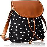 Kleio Polka Dots Canvas Slingbag For Girls / Women