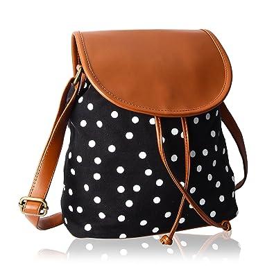 e835900c1a03f Kleio Polka Dots Canvas Slingbag For Girls/Women