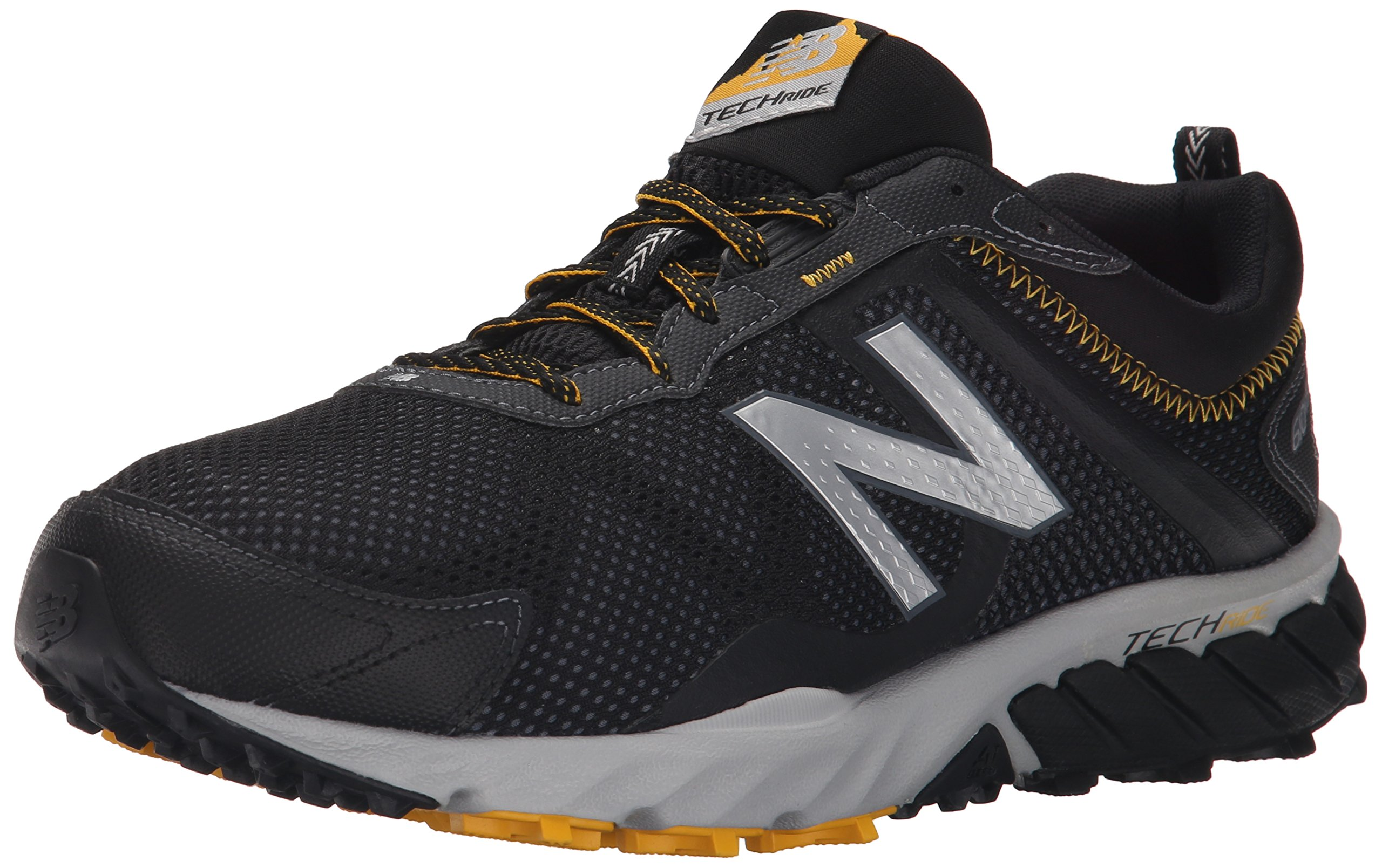 New Balance Men's MT610V5 Trail Shoe, Black/Gold Rush, 10 D US by New Balance