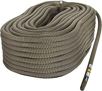 Rescue Canyoneering MudFog UIAA Certified Nylon Kernmantle Static Rope 11mm Rappelling for Rock Climbing Hauling and Mountaineering