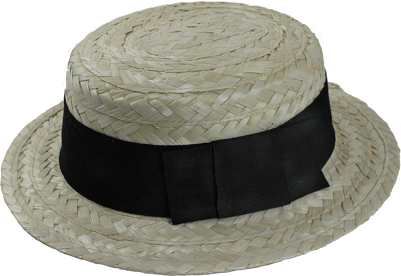 Sombrero de paja para adultos con banda negra Ref:11348: Amazon.es ...