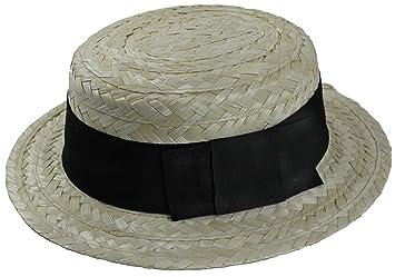 135a3e1939962 Buena calidad paja canotier Hat- talla única adultos  Amazon.es  Hogar