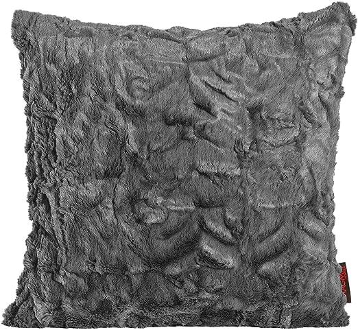2er Set Kissen zum Kuscheln Dekokissen von Magma Fluffy aubergine 50x 50cm