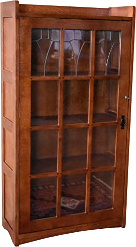 Crafters and Weavers Mission Solid Oak 1 Door Bookcase