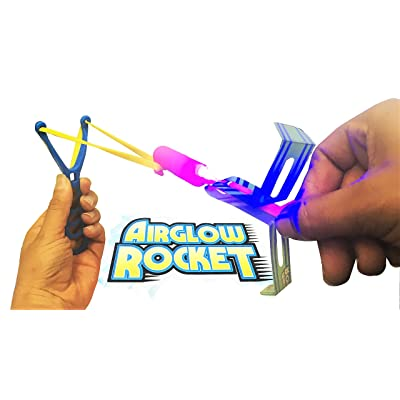 Wave Runner Sling-Shot Heli-Rocket Best Firework Alternative Light Up The Sky with Beautiful Illuminated Rockets Helicopters up to 120ft. Bulk Wholesale Party Gifts Fireworks Substitute (12 Pack): Toys & Games
