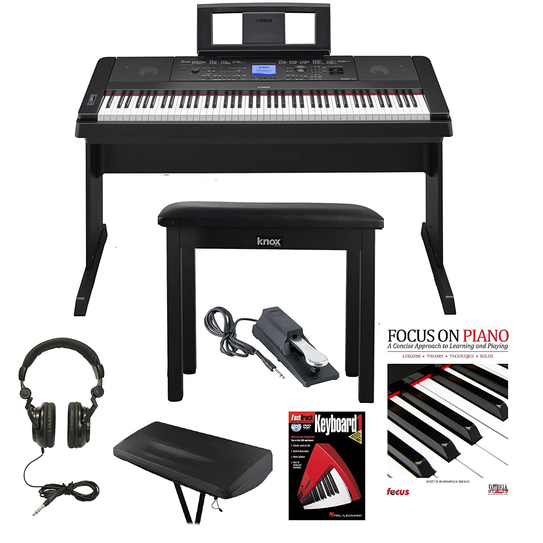 yamaha dgx 660 88 weighted keys digital piano bundle