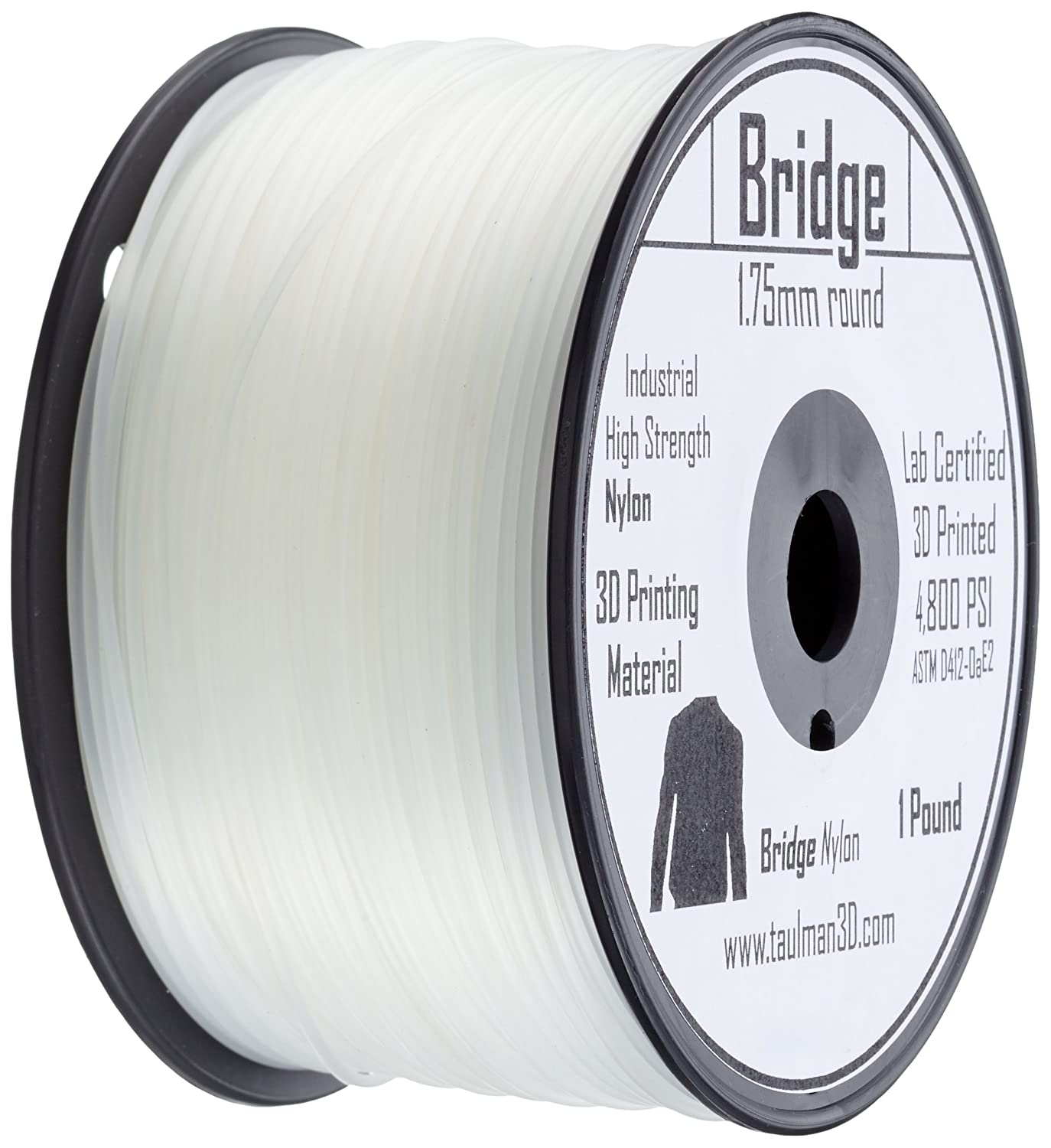 3D Prima 10158 Taulman Print Filament, Bridge Nylon, 1.75 mm Taulman3D
