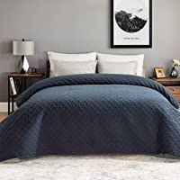Bedsure Colcha Verano Cama 90 Azul Marino 180x280 ES