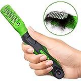 K9KONNECTION Dematting Comb Tool, Small Teeth Stop Shedding Rake Grooming Tool - Dematting Brush Easily Removes Mats & Tangles - Professional Mat Splitter Pet Brush for Dogs & Cats