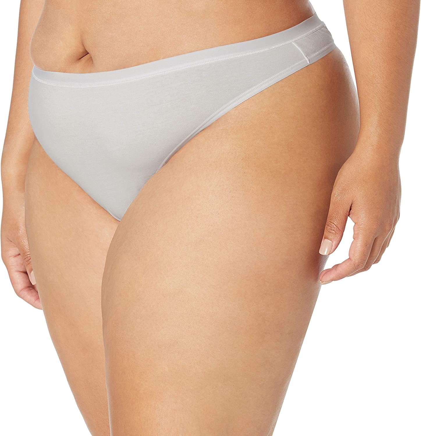 Essentials Plus-Size 6-Pack Cotton Stretch Thong Panty Thong-Underwear Donna