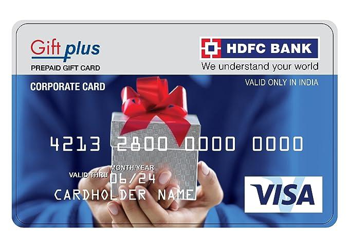 hdfc gift plus prepaid gift card 15000 - Prepaid Gift Card