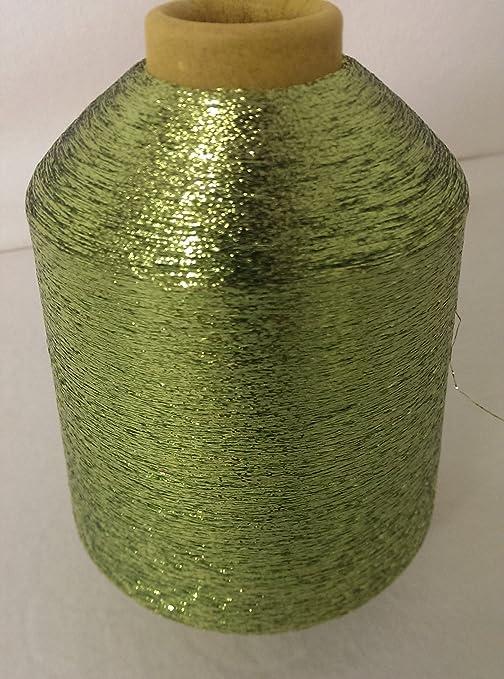 PhiloTeXX 1 Spule 500 g Metallgarn GP 42,00 EUR/kg apfelgrün 86.000 m/kg Lame Beilaufgarn Glitzergarn 62% Polyester/ 38% Poly