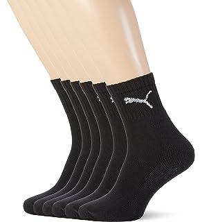Puma - Juego de 6 pares de calcetines unisex, con rizo en la suela