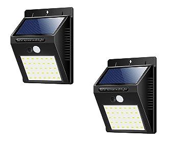Amazon.com: Whryspa 35 LED luces solares de intensidad a luz ...