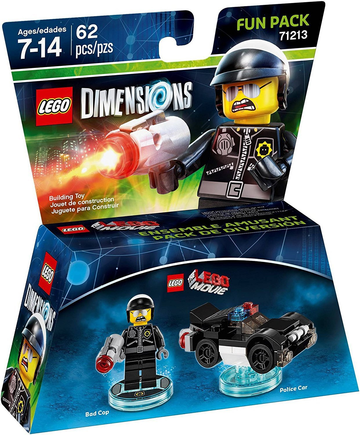 LEGO Dimensions Lego Movie Bad Cop tag FREE POST stand