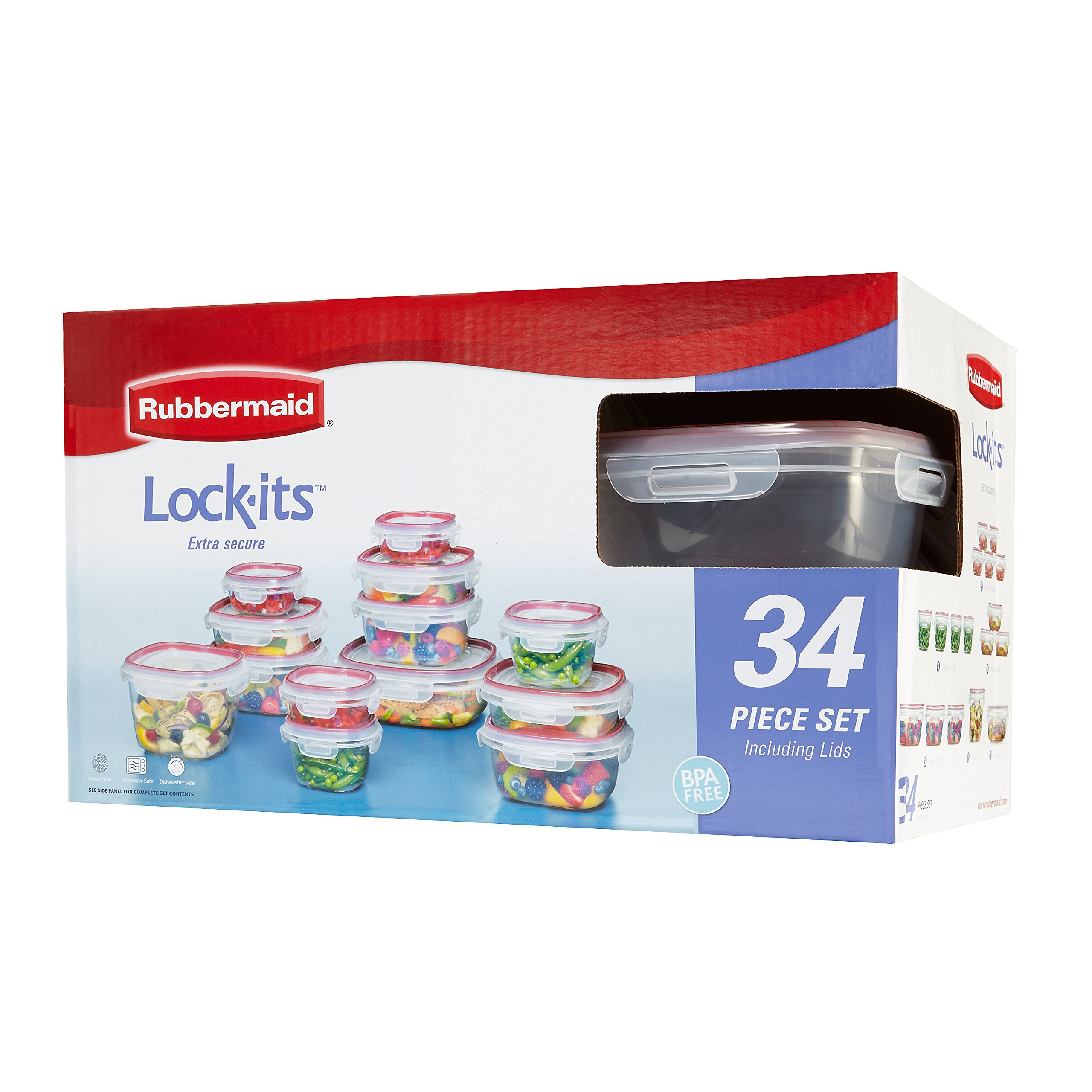 Rubbermaid Easy Find Lids Lock-its Food Storage Container