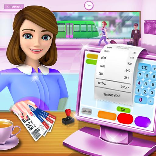 Heart Trains - Subway Train Cash Register ATM Cashier Games