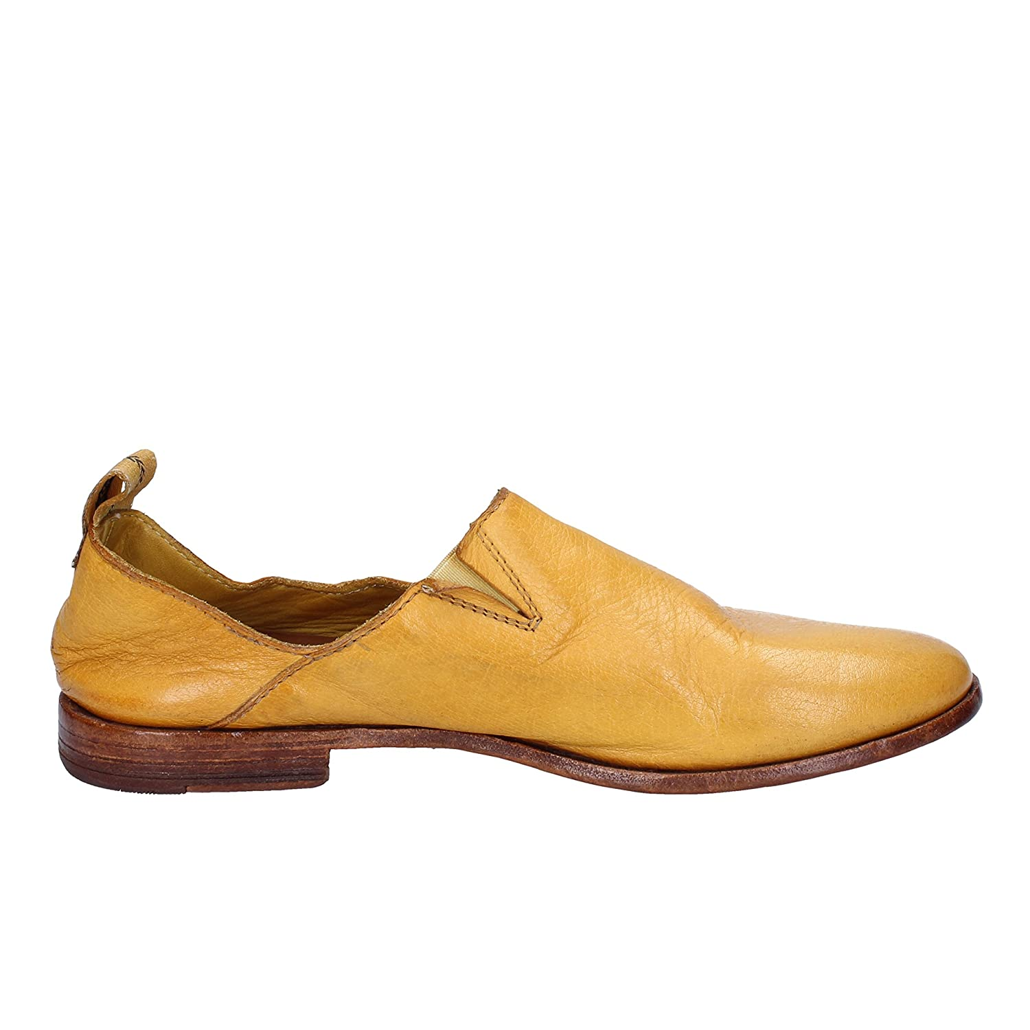 MOMA Loafers-Shoes Womens Leather Yellow