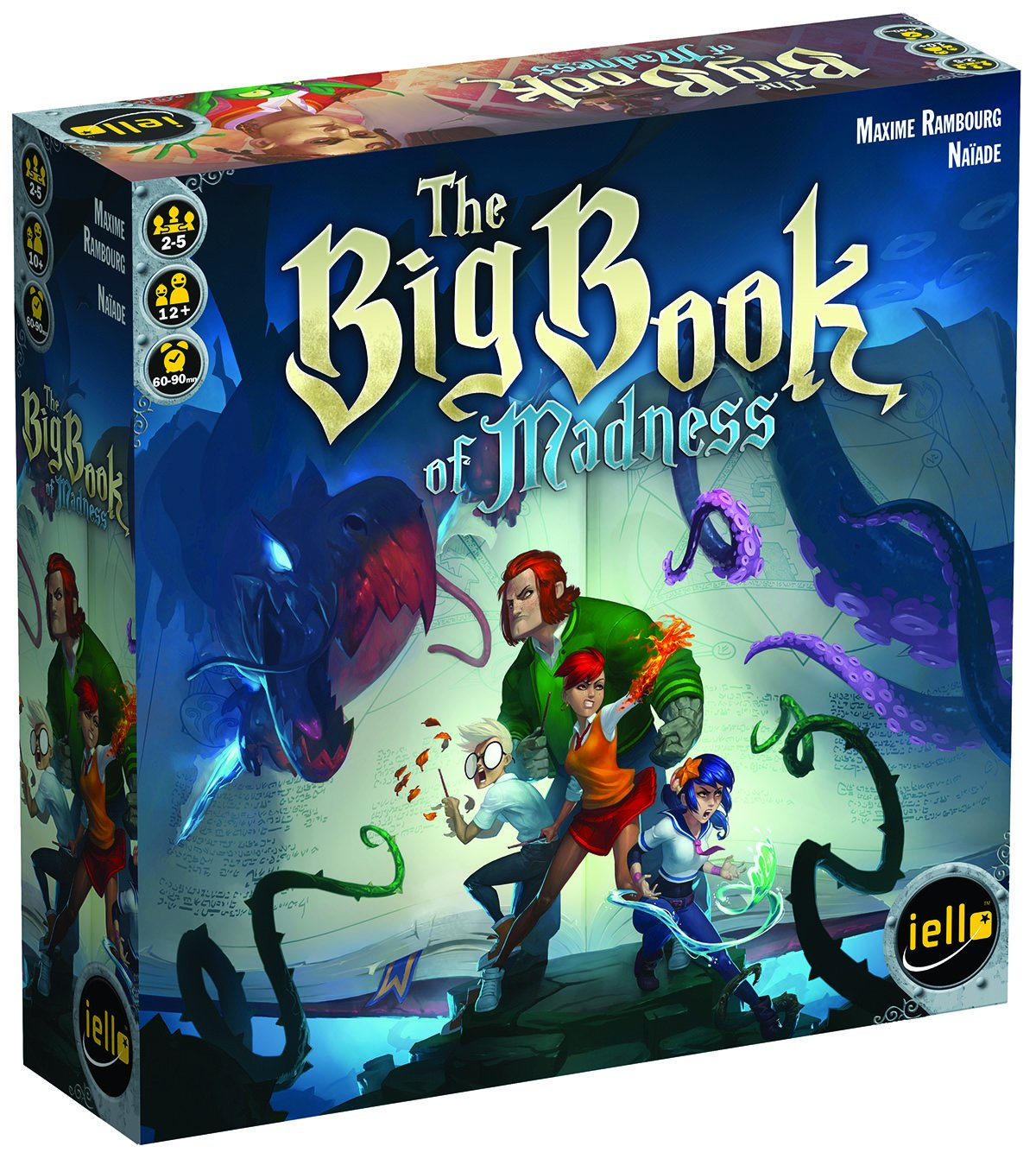 image of The Big Book of Madness with cartooned design on front.