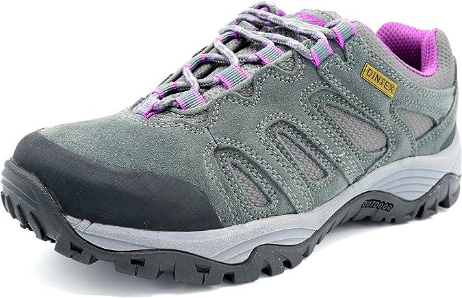 Praylas Leiva Gris/Lila - Deportivo de treking y Senderismo con Membrana Impermeable para Mujer: Amazon.es: Zapatos y complementos