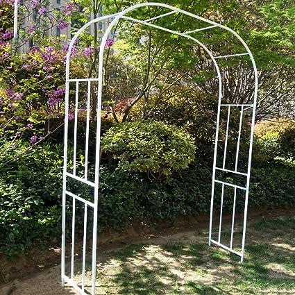 S-AIM Pérgola de Arco de jardín de Metal, Soporte de Marco de ...