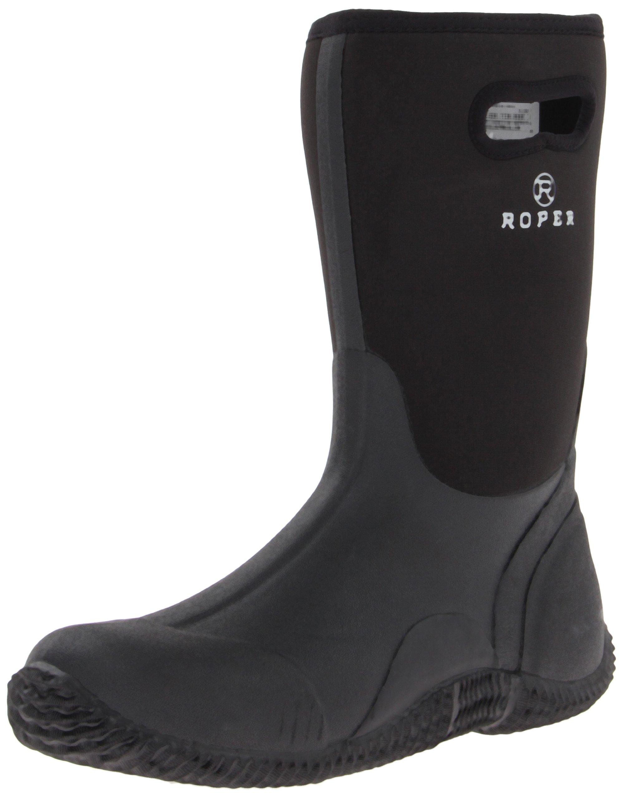 Roper Men's Barnyard Boot Black 11 D - Medium