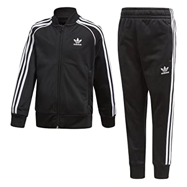 c2a1cfdcba4 adidas Originals Boys  Big  Originals Trefoil Superstar Tracksuit Black 4T