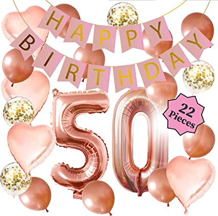 Amazon.com: Decoraciones de 50 cumpleaños – decoraciones de ...