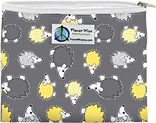 product image for Planet Wise Reusable Zipper Sandwich and Snack Bags, Sandwich, Hedgehog Poly