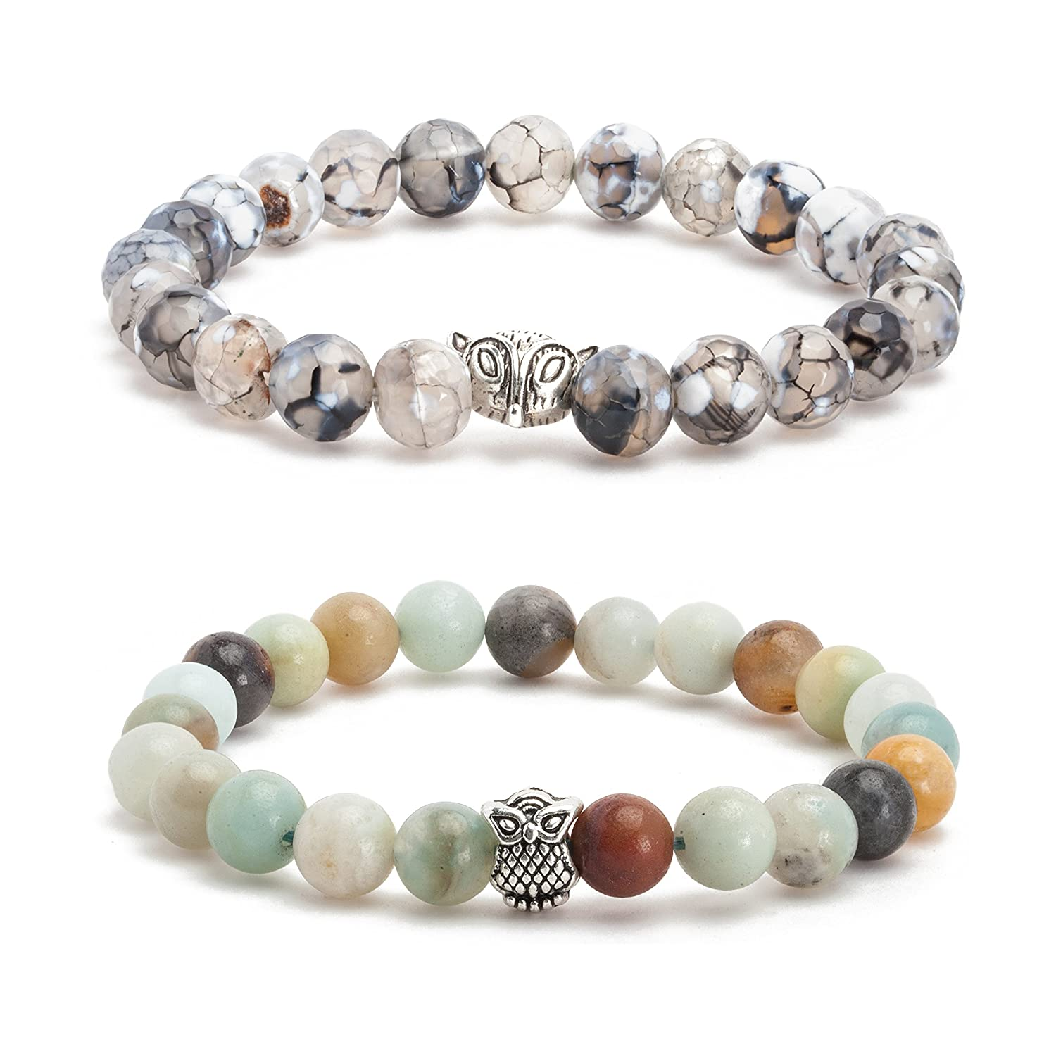 Dream Catcher Mens Womens Lava Rock Turquoise Matte Agate Jasper Beaded Bracelet Energy Beads Silver Plated Head Wenzhai Jewelry Co. Ltd. AMS030002-02