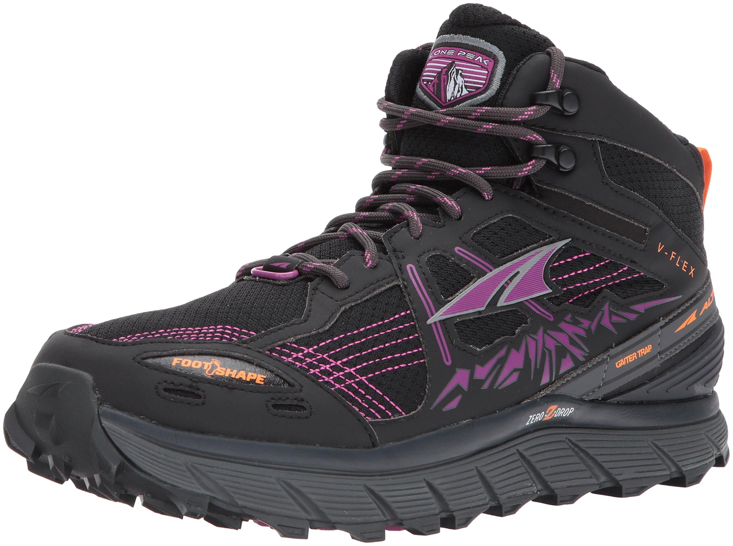 Altra Women's Lone Peak 3.5 Mid Mesh Running Shoe, Purple/Orange - 8 B US