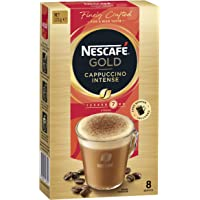 NESCAFÉ Gold Cappuccino Intense Coffee Sachets 8 Serves (Choc Shaker Included), 123 g