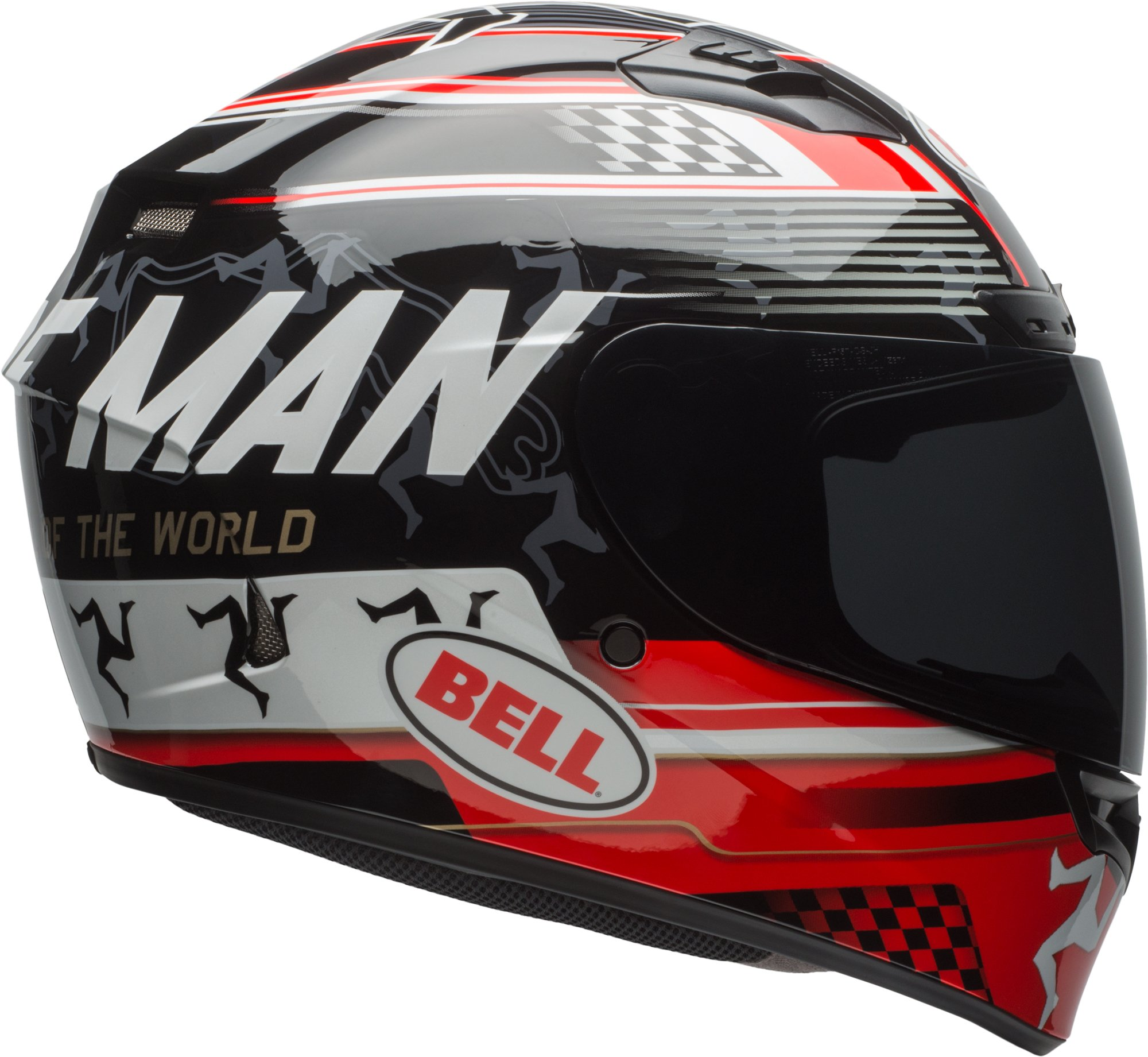Bell Qualifier DLX Isle Of Man Black/Red Full Face Helmet - X-Large by Bell (Image #2)