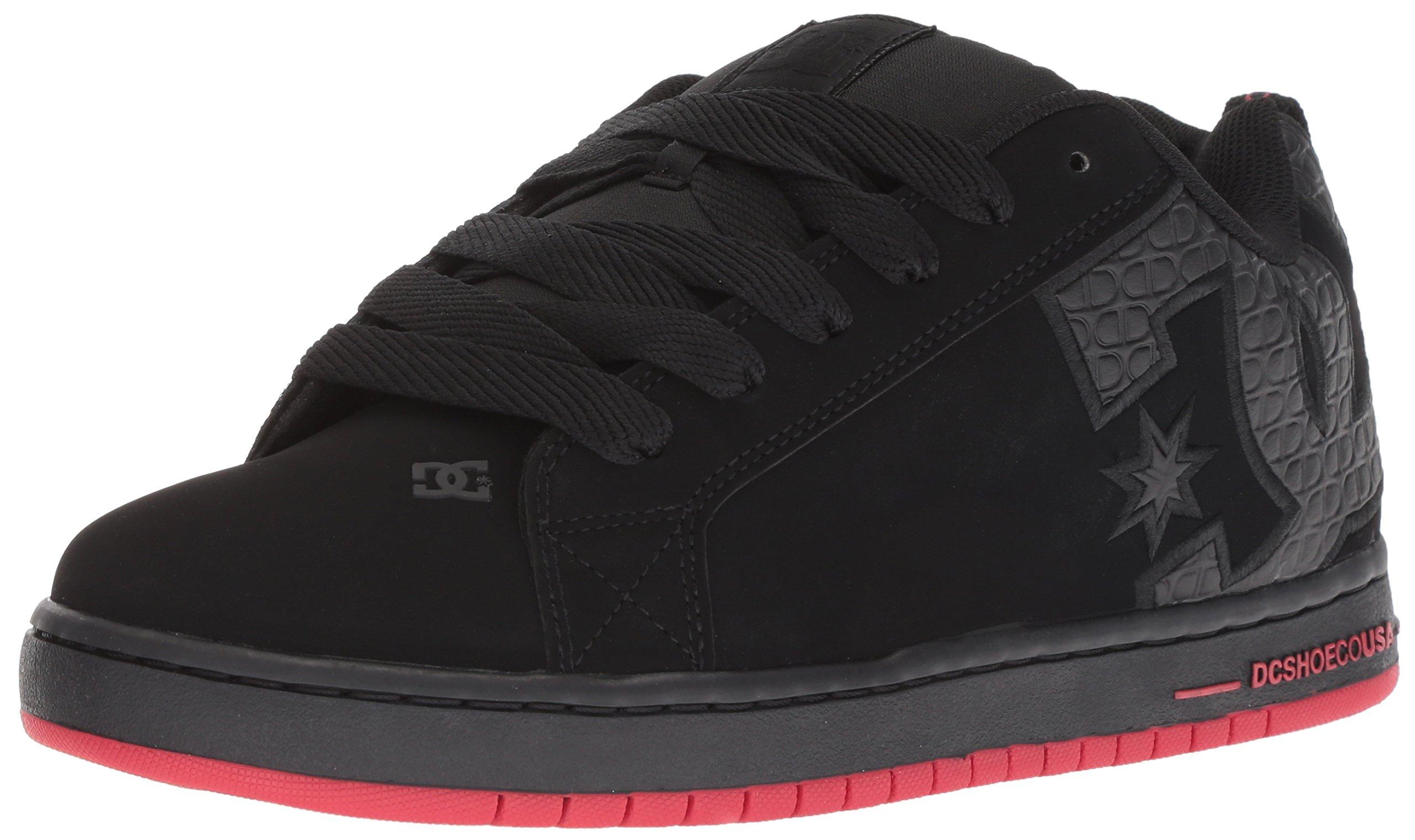 DC Men's Court Graffik SE Skate Shoe, Black/Red/Black, 13 Medium US by DC (Image #1)