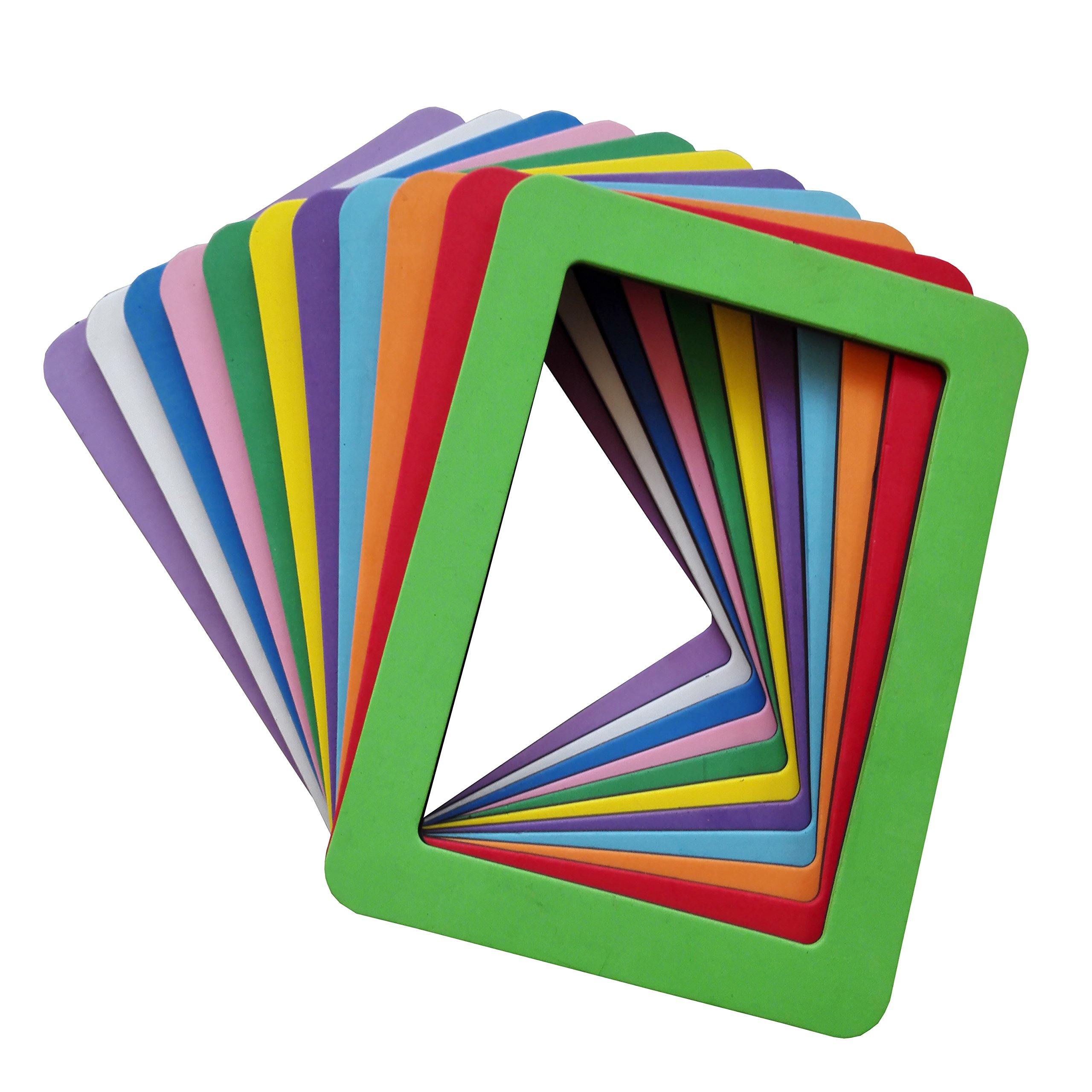 Ru Xing Set of 11 Colorful EVA Magnetic Picture Frames for Photos,Drawings,Certificates,Posters,Notifications, Set of 11 (EVA 5 x 7 inch, Double Layer)
