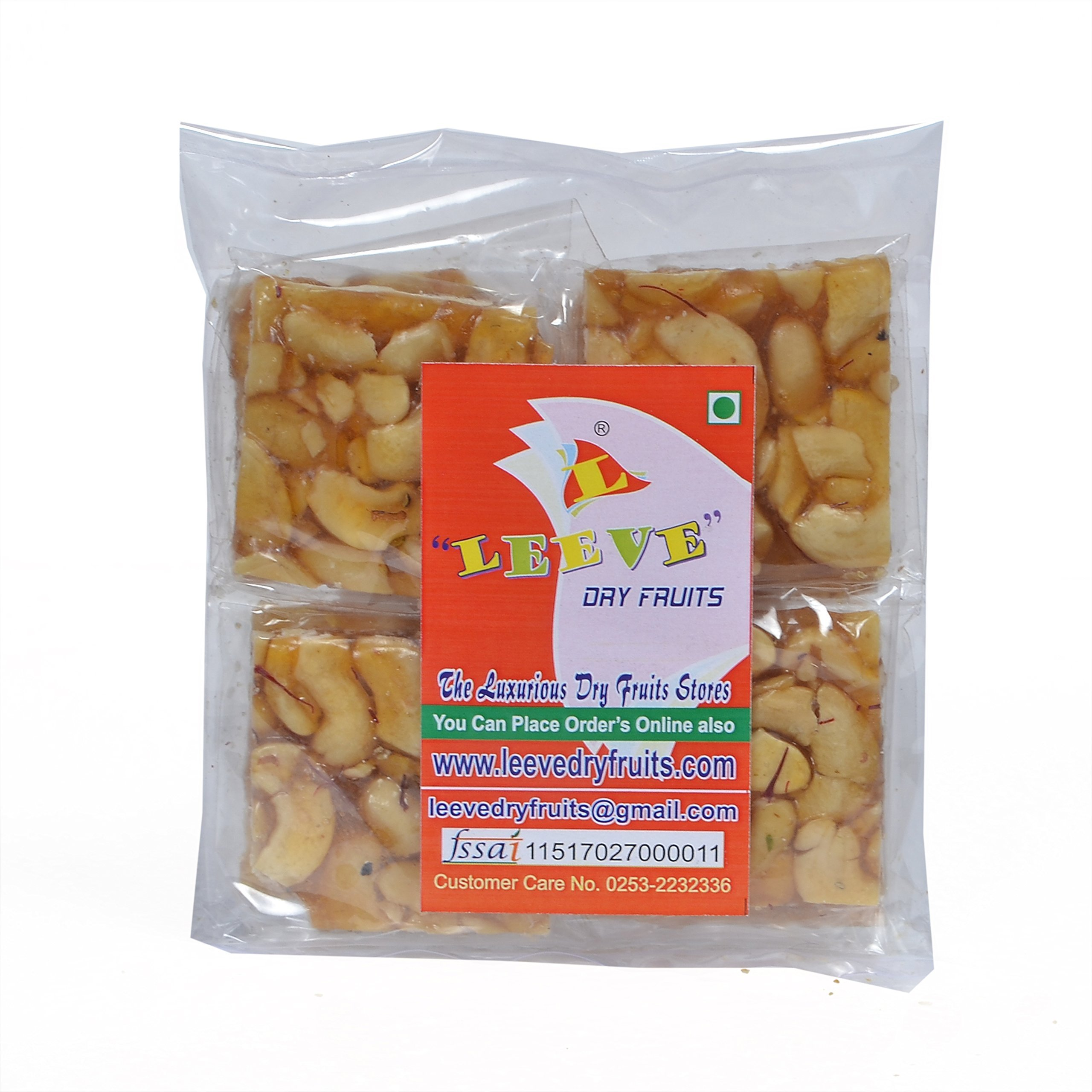 Leeve Dry Fruits Cashew Chikki - 400 Grams by Leeve Dry Fruits (Image #1)