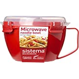 Sistema 21109 Microwave Cookware Noodle Bowl, 31.7 Ounce, Color may vary