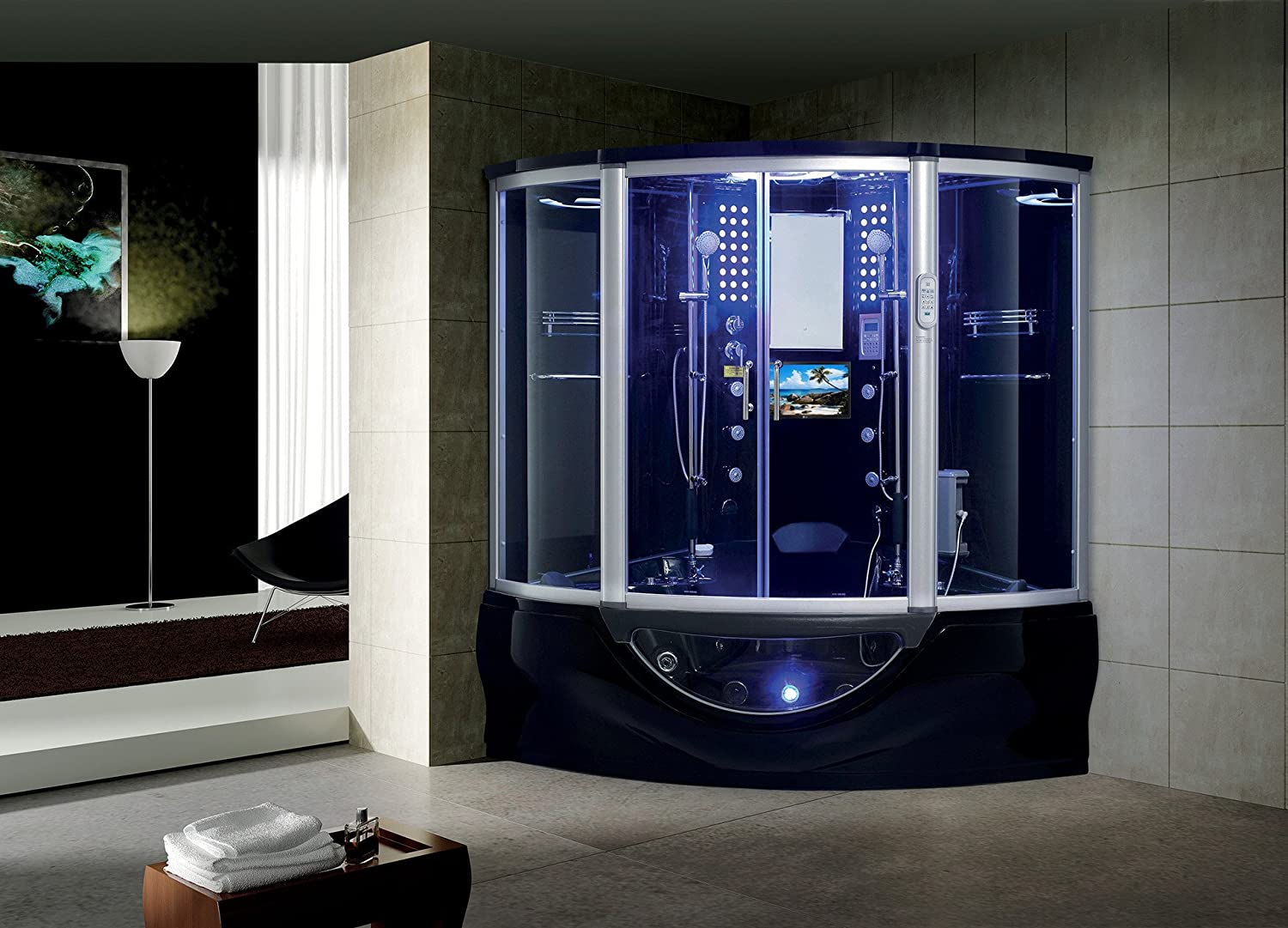 The Superior Steam Shower Sauna With Jetted jacuzzi Whirlpool ...