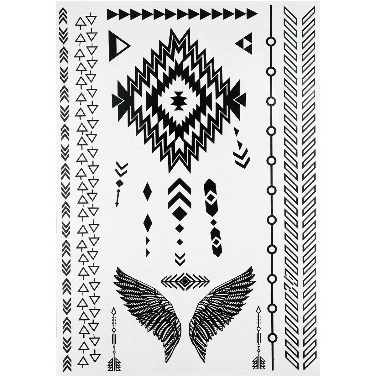 GIFT!!Tastto 6 Sheets Henna Body Paints Temporary Tattoos Black Lace Stickers for Girls and Women with GIFT by Tastto (Image #7)