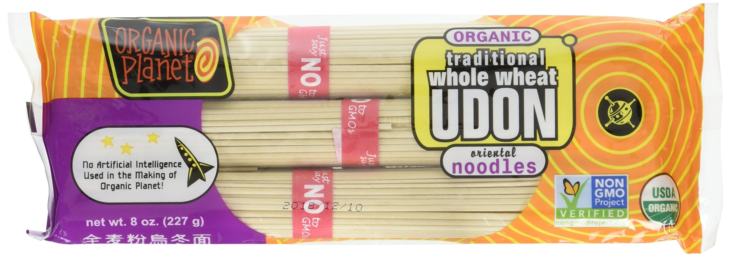 Organic Traditional Udon Noodles 8 Ounces (Case of 12) by Organic Planet