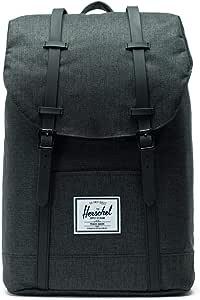 Herschel Retreat Backpack, Black Crosshatch/Black Rubber, Classic 19.5L