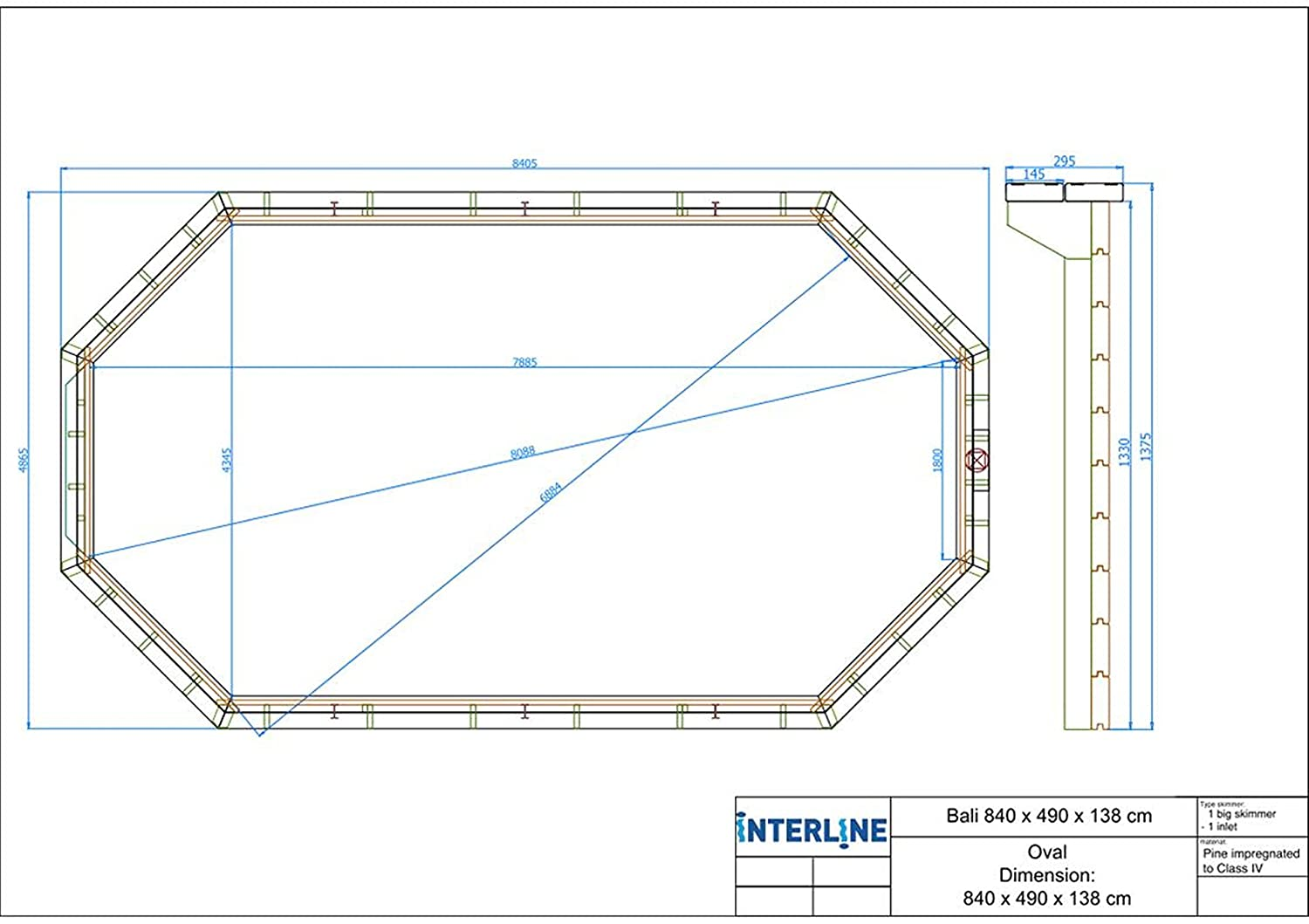 Interline 55600118 - Manta solar para piscinas (verano), color azul: Amazon.es: Jardín