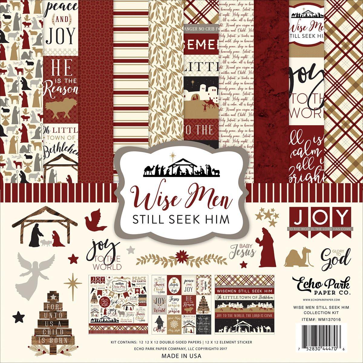 Echo Park Paper Company Wise Men Still Seek Him Collection Kit