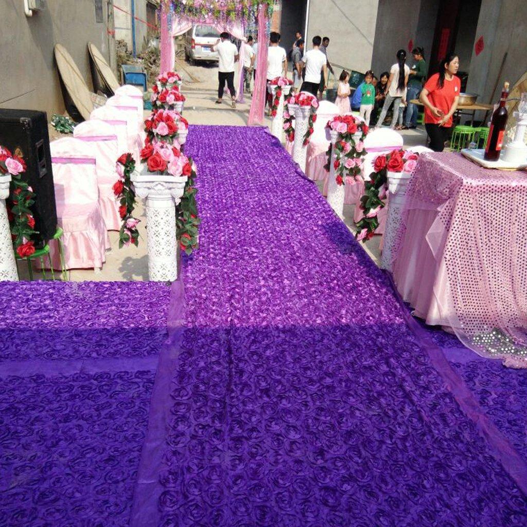 60cm Corridore del Corridoio di Nozze di Cerimonia Tappeto di Pavimento Antiscivolo per Matrimonio Rosa MagiDeal 140