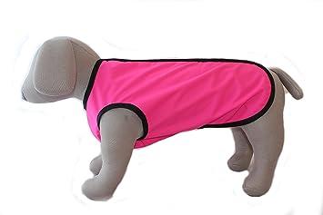 Doggie abrigos Step en impermeable ligero sin forro abrigo para perro, color rosa: Amazon.es: Productos para mascotas