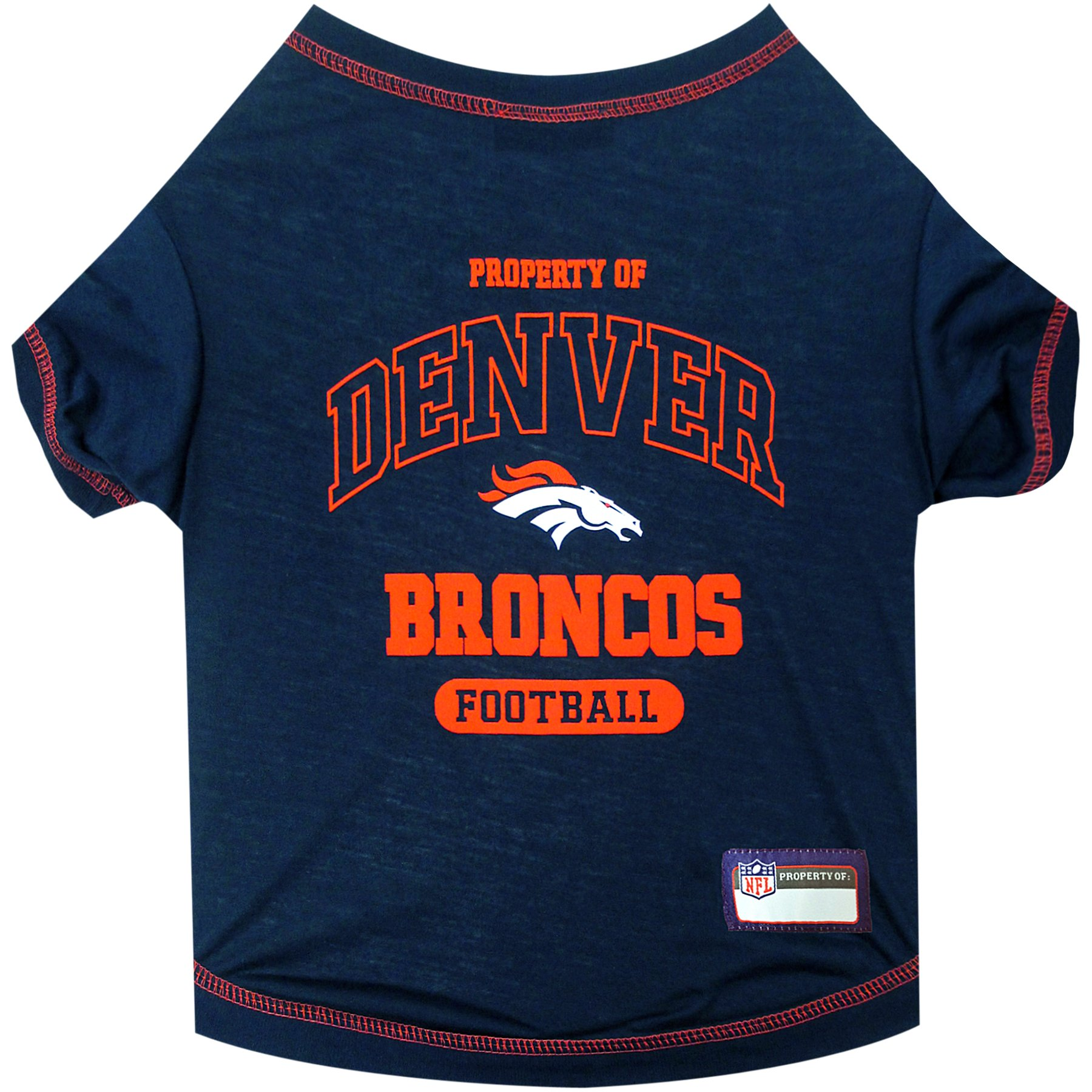 NFL DENVER BRONCOS Dog T-Shirt, Small
