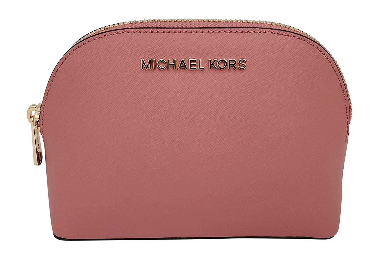 Michael Kors Women's Jet Set Travel Large Leather Pouch Cosmetic Bag Rose