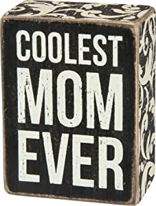 Primitives by Kathy 28497, Box Sign, Coolest Mom